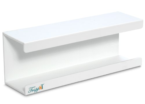 TrippNT 50175 White PVC Large Kimwipe Holder with Double Faced Mounting Tape, 3.5'' Length x 15'' Width x 5'' Height by TrippNT