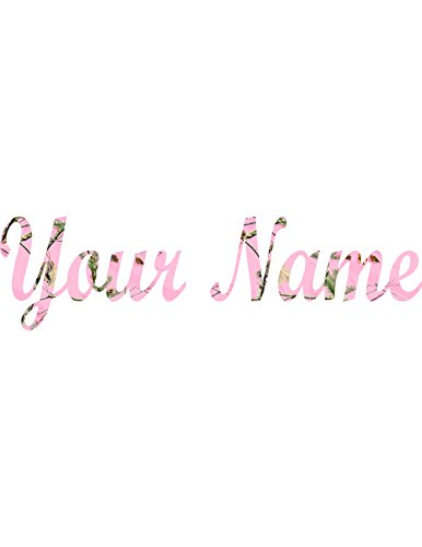 Your Name in Light Pink Camo