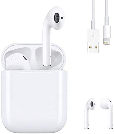 Wireless Earbuds Bluetooth 5.0 Headset Earbuds Headphones Built-in Microphone and Charging Box,three-D Stereo Noise Cancelling Earbuds, Suitable for Apple Airpods Android/iPhone/Samsung