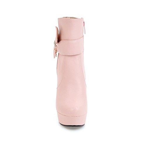Stiletto UK9 Bootie Calf Botas Round Mujer 5 Toe HSXZ Botas Otoño Invierno CN45 Piel Botines ZHZNVX sintética Moda Botas de para Blanca US11 Bowknot Mid de Zapatos UE43 5 Talón Botines qwOW1Pf