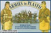 Scottish Highlanders in Kilts (20) 1/32 Armies in Plastic (Stock Kilt)