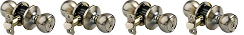Brinks 2107-109 Ball Style Keyed Entry Door Knob, Antique Br