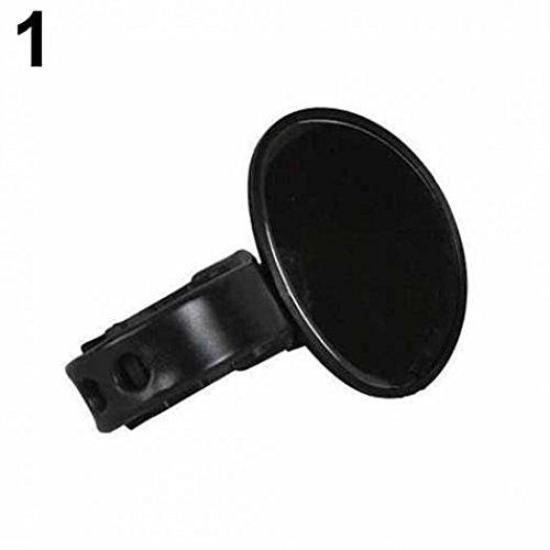 geshiintel Bicycle Cycling Handlebar Rubber Rearview Mirror 360 Degree Rotate Accessories - Black