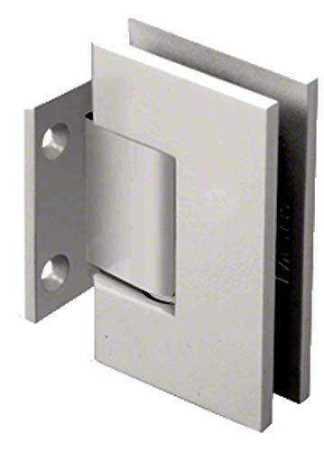 CRL Geneva Series Satin Nickel Wall Mount Short Back Plate Hinge (Standard Model)