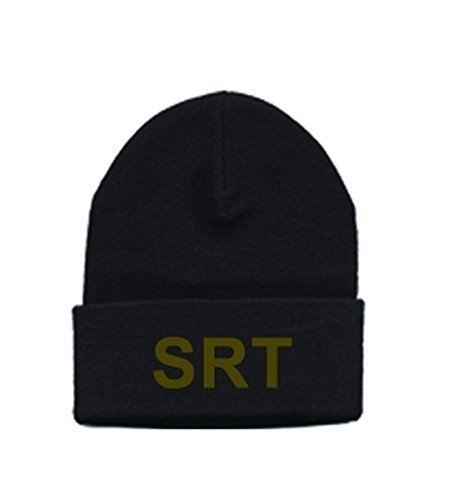 SRT - SPECIAL RESPONSE TEAM - Beanie - Olive Drab on Black - One Size - Police, Sheriff, SWAT Team, Patch, Cap, Hat, Jail, Prison, Corrections - Sold by UNIFORM - Ca Beanie