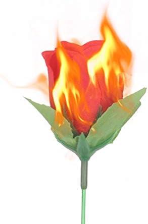 tJexePYK Zauberrequisiten Neuheit Rose Zaubertrick Feuer Flamme Blume f/ür Performance Show Prop Halloween