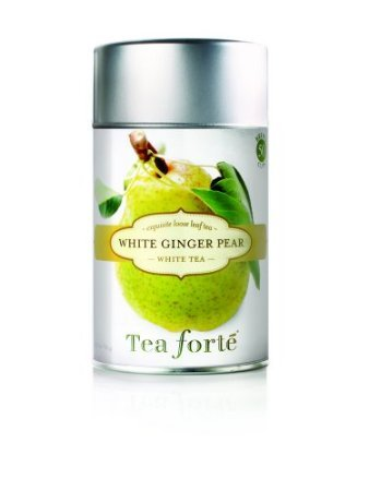 Pear Canister - Tea Forte Loose Tea Canister-White Ginger Pear, 2.1 oz, 50 servings