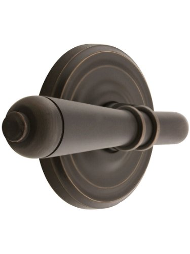 Classic Rosette Set with Turino Levers Right Hand Privacy in Oil Rubbed Bronze. Doorsets. ()