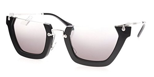 Miu Miu W-SG-3121 MU 12QS 1AB4N2-Black Womens Sunglasses, 50-26-140 - Sunglasses Aviator Miu Miu