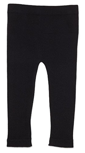 Silky Toes Infant, Baby, Toddler Knit Leggings, Cotton Pants for Girls and Boys, (Black, 12-18M)]()