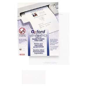 - White Custom Printable Laser/Ink Jet 4 x 6 Index Cards, 100 Cards Per Pack (ESS64604)