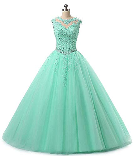 (SHANGSHANGXI Prom Queen Dresses Formal Pageant Ball Gown for Teens Long Floor Length Tiffany)