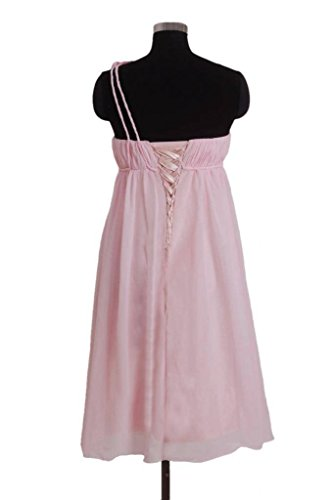 Bridesmaid gray Rosettes Shoulder Dress DaisyFormals 55 Party One Dress Short BM1031S W xSwWH7Fq