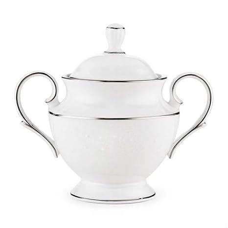 Lenox Floral Veil Bone China Platinum Banded Coffeepot 6382048