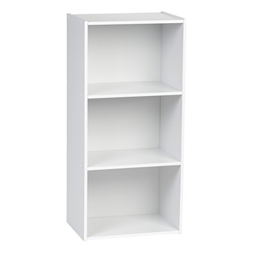 IRIS 3-Tier Wood Storage Shelf, White (Letter White 3')