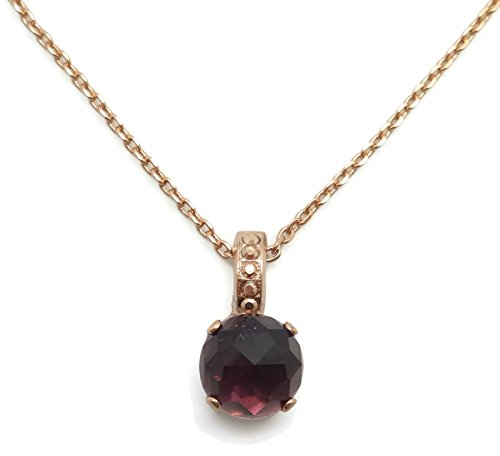 Rhapsody Crystal Pendant - Mariana Swarovski Crystal Rose Gold Plated Necklace Round Purple Faceted 1072 Bohemian Rhapsody
