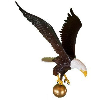 - Montague Metal Products Color Flagpole Eagle, 18-Inch