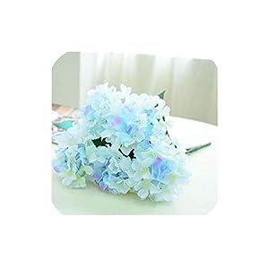 Bling-Bling Case Simulation 6 Hydrangea Silk Flower Artificial Flower Home Decoration Wedding Supplies,Light Blue 106