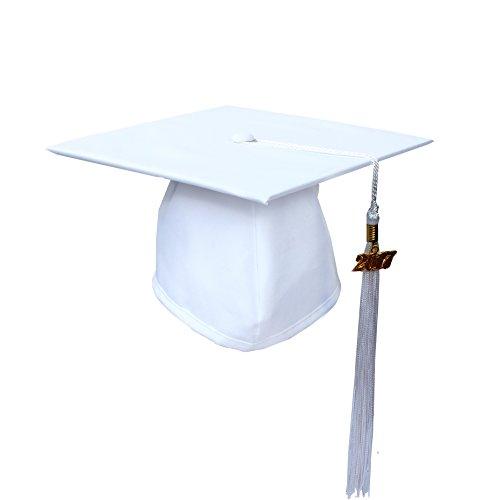 graduation cap white - 3
