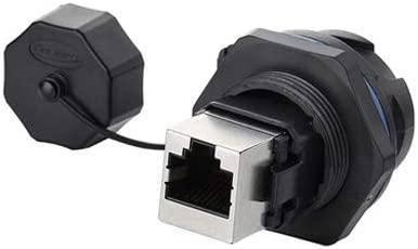 Fast Data CNLINKO RJ45 Dual Port Ethernet Connector Outdoor Waterproof IP67 Panel Mount Receptacles Socket Jack Industrial