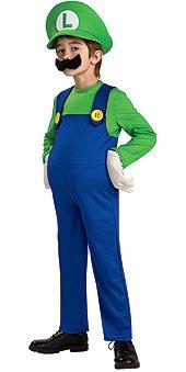 Super Mario Brothers, Deluxe Luigi Costume, (Super Mario Luigi Costume)