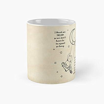 85d82b4df9e Image Unavailable. Image not available for. Color: gocontigo - Winnie the  Pooh ~ I think we dream Mug 11 Oz White Ceramic