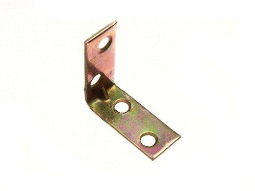 CORNER BRACE ANGLE REPAIR BRACKET YELLOW ZINC PLATED STEEL 40MM ( ) by ONESTOPDIY.COM