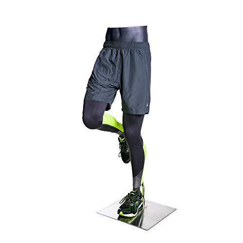 (MZ-HEF50LEG) High end Quality. Eye Catching Male Headless Mannequin Leg, Athletic Style. Running Pose. by Roxy Display (Image #4)