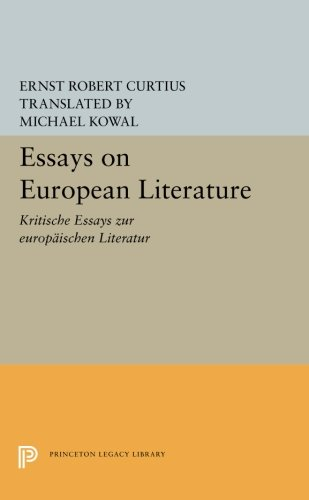 Download Essays on European Literature (Princeton Legacy Library) pdf