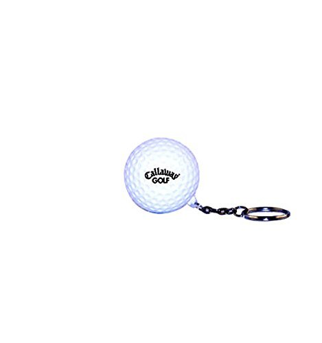 Golf Ball Stress Reliever Key Chain - White - Promotional Product - Your Logo Imprinted (Case Pack of 96) (Balls Stress Imprinted)
