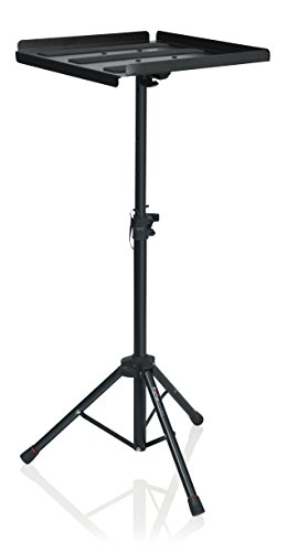 Gator Frameworks Adjustable Multi-Media Gear Stand Featuring 100x100 Vesa Mounting Brackets | Ideal for Laptops Min/Max Height-28/44