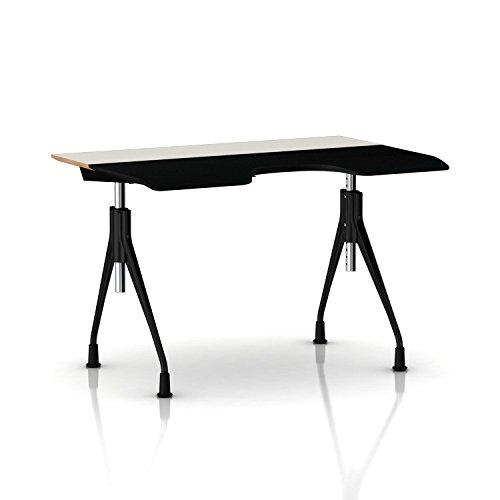 Herman Miller Envelop Desk: Glides - White Laminate Surface
