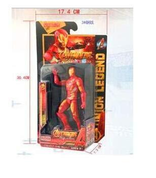 WEKIPP : Infinity Man with Led Ligh PVC Action Figure Toy 15Cm T12 -Multicolor Complete Series Merchandise