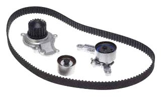Evergreen TBKWP265LA Timing Belt Water Pump Kit Fits PT Cruiser Caravan Sebring Liberty 2.4 Non Turbo