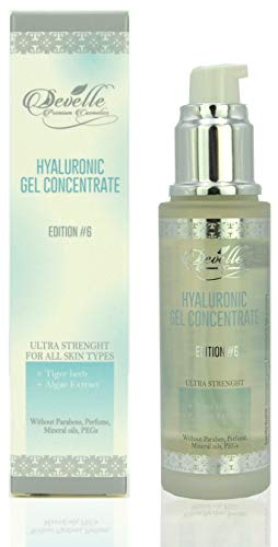 Hyaluronic Gel Edition 6 with Tigerkraut and Algae Extract MADE IN GERMANY I Hyaluronic Acid Gel I Hyaluronic Booster I Anti-Wrinkle Face Care I Anti-Aging without Parabens I Anti-aging gel