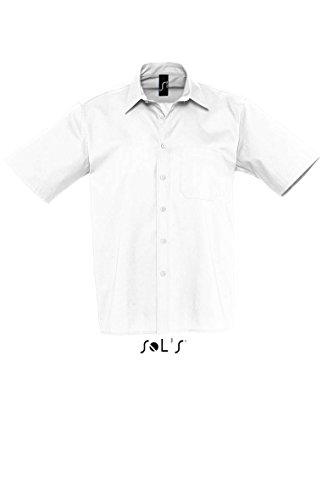 SOLS Kurzarm Hemd Berkeley Herren Hemd Übergröße bis 4XL NEU XL,White