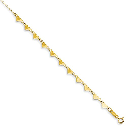 Solid 14k Yellow Gold Oval Lin