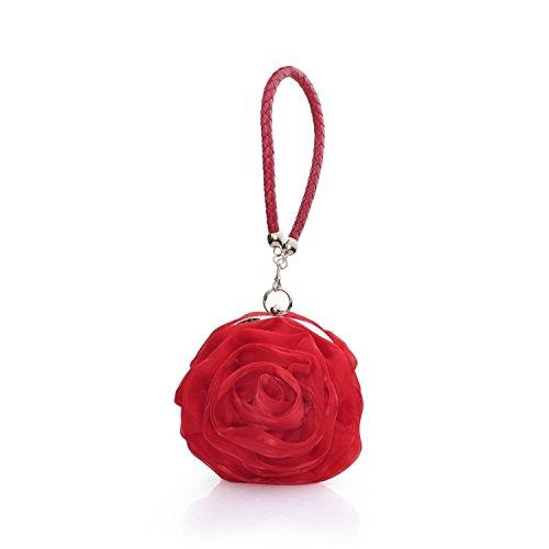 YOUAREFACNY - Cartera de mano de Seda para mujer talla única Red