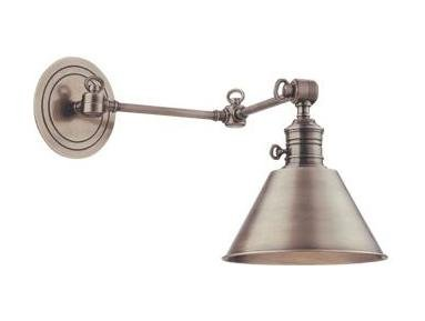 Antique Nickel Garden City 1 Light Swing Arm Wall Sconce (Aged Brass Swing Arm Lamp)