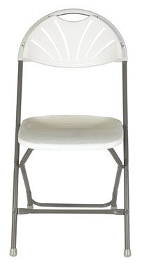 FOLDING CHAIR PLASTIC WH by LIVING ACCENTS MfrPartNo SC2004P