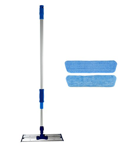 (Real Clean 16 inch Professional Commercial Microfiber Mop with Two 16