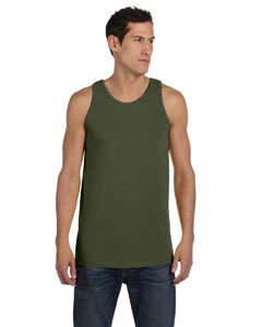 (Authentic Pigment 5.6 oz. Pigment-Dyed Cotton Tank, Jungle, S)