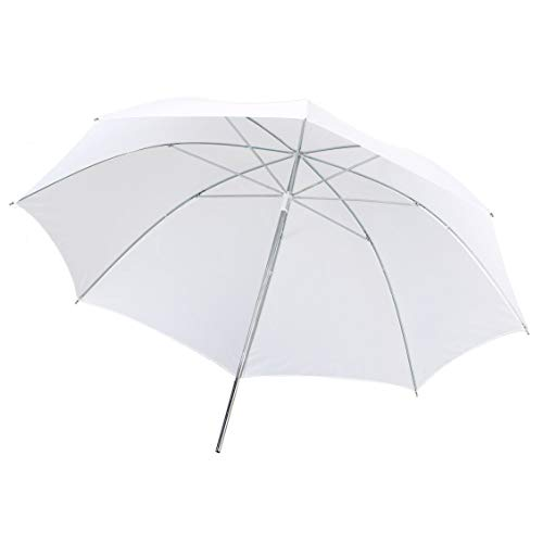 Portable Lightweight 33in 83cm Pro Studio Photography Flash Translucent Soft Lambency Umbrella White Nylon Material Aluminum Shaft