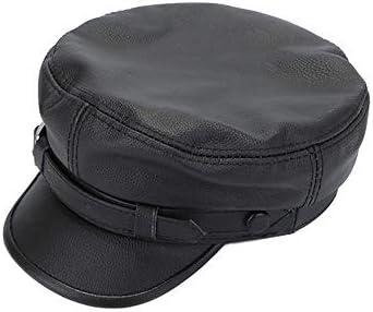 野球帽 キャスケット メンズ 鳥打帽 ゴルフ 革 日よけ 調整可能 ハンチング LWQJP (Color : 褐色, Size : XXL)