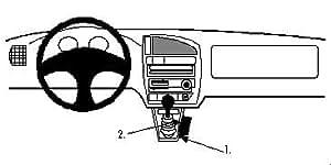 Brodit ProClip - Kit de coche para Citroen Saxo 96-01  (para Europa, montaje de la consola)