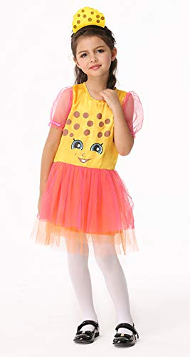 (Animal Spongebob Squarepants Costume for Kids Girls Halloween Birthday Role Play Tulle Dress Outfits (Yellow,)