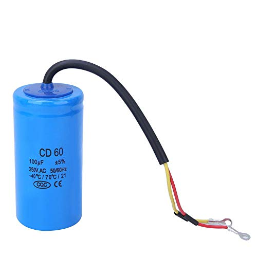 250V 100uf AC Round Capacitor CD60 50//60Hz Compressors Capacitor,Explosion-Proof Start Capacitor,for Air Conditioners Refrigerators