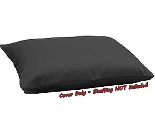 Dogbed4less Do It Yourself DIY Pet Bed Pillow Duvet Canvas Cover + Waterproof Internal case for Dog/Cat at Large 48X29 Black Color - Covers only