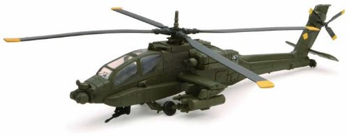 Helicopter AH-64 Apache Die Cast 1/55 scale
