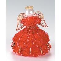 Birthstone Angel Ornament Bead Kit - July Ruby